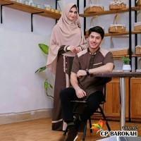 Baju Busana Muslim Gamis Couple Pria Wanita BAROKAH
