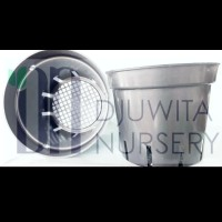Pot Plastik anggrek Warna Hitam Ukuran Diameter 20cm