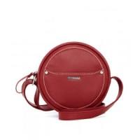 Tas Wanita Bulat Clarysa Red Shopie Martin Paris Original Branded