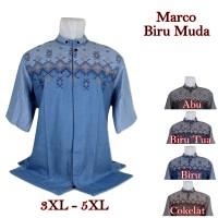 Baju Koko Marco Big Size Biru Muda 5 Pilihan Warna