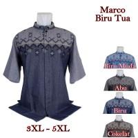 Baju Koko Marco Big Size Biru Tua 5 Pilihan Warna