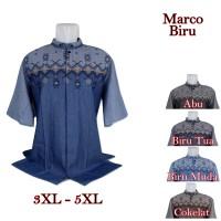 Baju Koko Marco Big Size Biru 5 Pilihan Warna