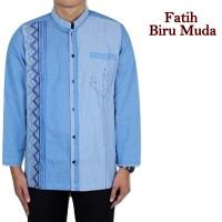 Baju Koko Fatih Biru Muda 5 Pilihan Warna
