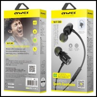 diskon gila AWEI Earphone Bluetooth Magnetic Sports - WT-30