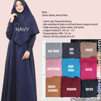 Gamis Jersey Polos Busui Long Dress Baju Panjang