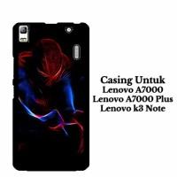 Custom Case Lenovo A7000 spiderman light Casing Hardcase Cover