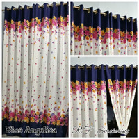 blue angelica smokering gorden 130 x 220 home made murah