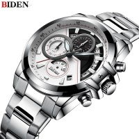 Jam Tangan Pria BIDEN Luxury Men Watch Stainless Steel Quartz
