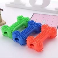 Tulang GiGit Anjing Bunyi Mainan Kunyah Karet Anjing Dog Toy