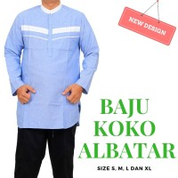 Baju Koko Qurta Pria Lengan Panjang Bahan Katun