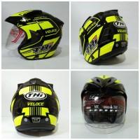 Helm Half Face THI VeLoce Yellow Helm SNI Murah Terlaris Good Quality