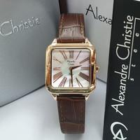 Jam Tangan Wanita Alexandre Christie AC 2788 Original - BROWN