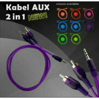 Kabel Aux Audio 2 In 1 - Jack Audio - Kabel Audio 2 RCA Jack