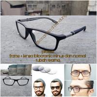 kacamata frame sport 02 + lensa fotocromic minus dan normal