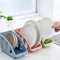 rak tirisan piring plastik warna warni sendok garpu dish plate drain r