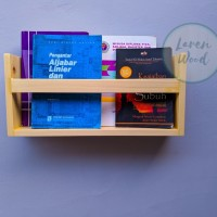 rak dinding buku/majalah kayu jati belanda