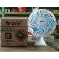 Kipas Angin Jepit Meja Dinding Arashi Flexi Fan Bisa Rotating Berputa