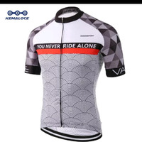 jersey sepeda kemaloce coolmax you never ride alone