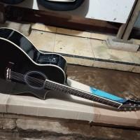 gitar akustik elektrik siprus cort free tass kabel