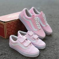 Couple Vans Old Skool Pink Import / Sepatu Wanita / Sepatu Anak