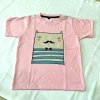 Kaos T-shirt print Mr. Busy Cat