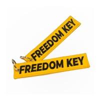 Keychain Keytags Gantungan Kunci Bordir FREEDOM KEY Premium Original