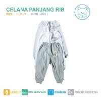 CELANA PANJANG BAYI / TODDLER FLUFFY RIB ABU (Isi 3pc) Size 1-2-3 Thn