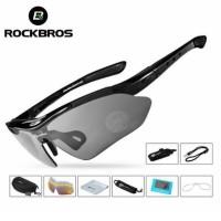 Rockbros Kacamata Sepeda dengan 5 Lensa & Myopia Frame