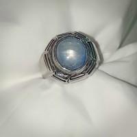 cincin batu akik permata blue safir birms star tajam 01 asli natural