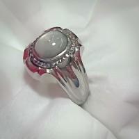 cincin batu akik permata blue safir birma star asli natural