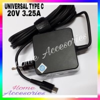 Charger Adaptor Laptop Universal Asus Dell lenovo 20V 3.25A TYPE USB C
