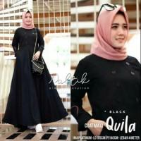 Baju Wanita Gamis Syari Quila Maxi Dress Muslim Terbaru