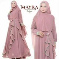Baju Wanita Gamis Syari Selivia Wolfis Maxi Dress Muslim