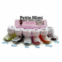 Petite Mimi Ruffle/Kaos Kaki Bayi/ Perempuan/Kaos Kaki Lucu/