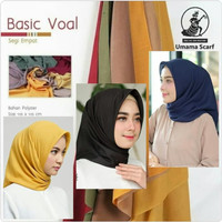 Umama Scarf-Umama hijab-Kerudung Segi Empat-Hijab Murah Basic Voal
