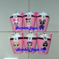 Squishy Ice Cream Milk Cup Pink LOL Surprise Princess