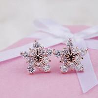 anting fashion bintang snowflake earrings jan165