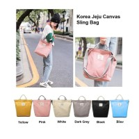 TS52 Korea Jeju Travel Canvas Sling Bag / Tas Selempang Wanita