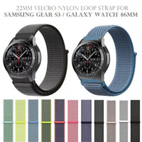 22mm Nylon Loop Strap Watch Band for SAMSUNG GEAR S3 GALAXY WATCH 46MM