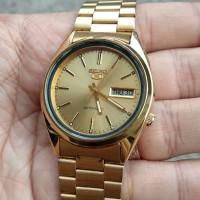 jam tangan seiko 5 automatic gold mulus akurat