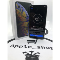 iphone xs max 64gb silver dual sim single on second original