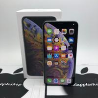 iphone xs max 256gb silver dual sim single on second fullset