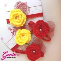 Headband - Rosy crochet