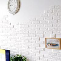 Wallpaper 3D Korean Style Foam Batu Bata Putih 70Cm x 77Cm