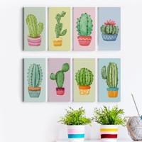 Dekorasi Pajangan Kamar Rumah Poster Vinyl Kaktus 15x30cm