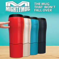 Mighty Mug Tumbler Botol Termos thermos minum Anti Tumpah Senggol - Hi