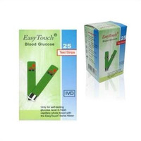 Easy touch Glucose Test Strip Cek Gula Darah Refill Isi 25