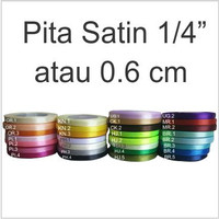 Pita satin 1/4 inch atau 0.6 cm