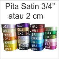 Pita Satin 3/4 inch atau 2 cm
