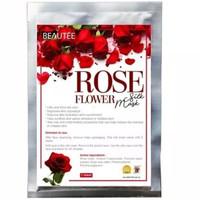 Beautee Rose Flower Silk Mask Masker Wajah Mawar